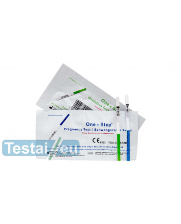 15 ovuliacijos ir 5 nėštumo testų rinkinys