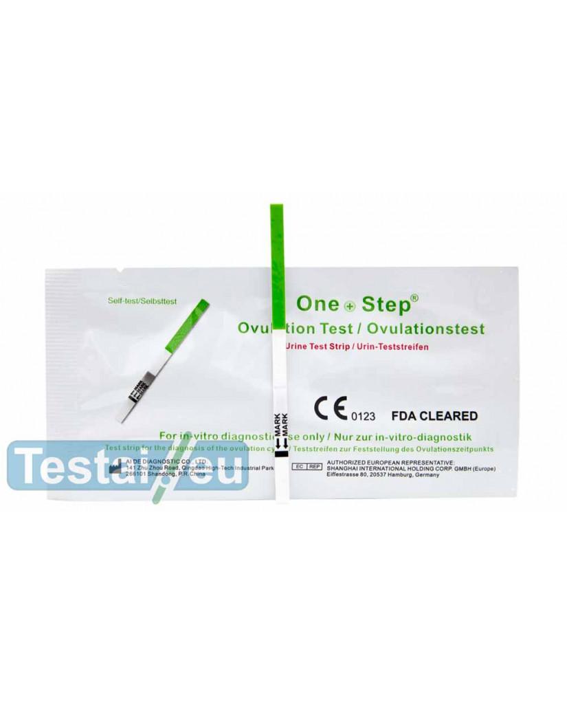 Ovuliacijos testas One Step (plati juostelė, jautrus)