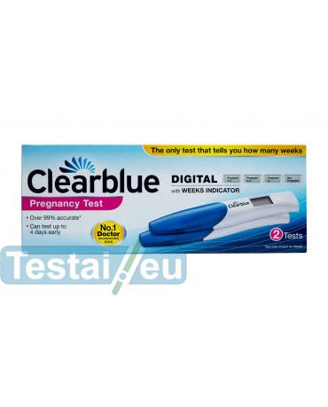 Clearblue skaitmeninis nėštumo testas (dvigubas)