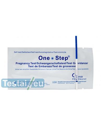 Nėštumo testas One Step (siaura juostelė) - greitam sunaudojimui