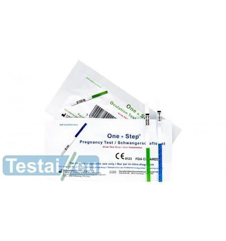 10 ovuliacijos ir 5 nėštumo testų rinkinys